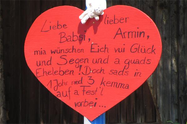 Hochzeitsbaum Spruch Bayrisch